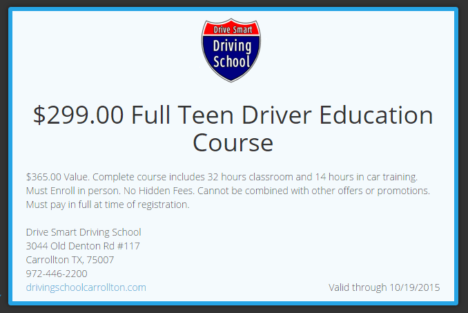 llll Click to view Texas Driving School promo code & coupons Today's top deal: 55% off Click to get the latest coupons now.